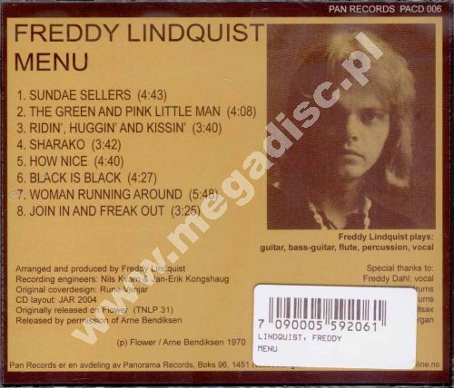 Freddy Lindquist Menu