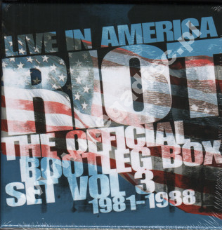 RIOT - Live In America - Official Bootleg Box Set Volume 3: 1981-1988 (6CD) - UK Hear No Evil Edition